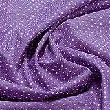 Stoff Baumwolle Punkte ganz klein lila weiß Tupfen