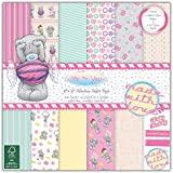 """Trimcraft Paper Pack 8""""X8"""" 36/Pkg Me To You Sweet Shop Tatty Teddy"""