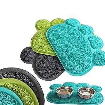 Sanwood® mignon antidérapant Paw Motif chien d'alimentation pour tapis