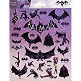 NOUVELLES IMAGES 75007594 Batman Ensemble DE 31 Mini Autocollants PVC Multicolore 14,5 x 7,5 x 0,1 cm