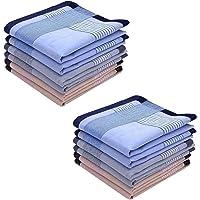 Men's Handkerchiefs,100% Soft Cotton Pocket Handkerchiefs for Men Cotton