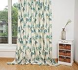 GWELL TOP QUALITÄT Vorhang Schlaufengardine Blickdicht Schal mit Ösen Gardine für Wohnzimmer Schlafzimmer 1er-Pack blatt 140*245cm