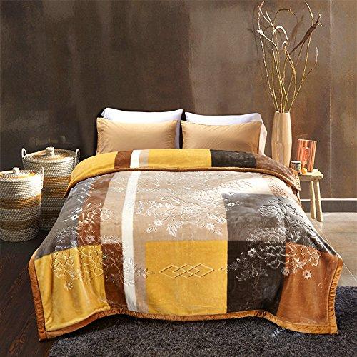 BDUK Crystal fusselfreien Tuch Komprimieren dicken Decken im Winter Doppelzimmer Einzelzimmer Doppelzimmer Hochzeitsfeier Stempel Coral Decke auf die Patienten zu warmen Free Style 200*230cm/8Jin -