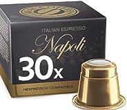 Italian Espresso Napoli by REAL COFFEE, Denmark, 30 Capsules, Nespresso Compatible