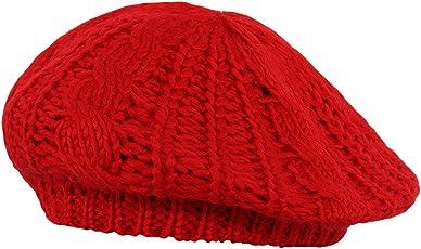 Noise Women's Red Baggy Beret Cap