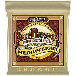 Ernie Ball 2003 Set de cordes guitare acoustique Earthwood medium light folk 12-54