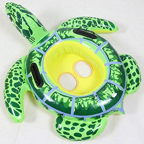 CHENGYI Schwimmendes Bett, Kinder Schildkröte Schwimmring Cartoon Wasser Sitz Baby Sicherheit Schwimmring 3-8 Jahre Alt