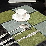Kuber Industries Golden-Silver Lace PVC 6 Piece Dining Table Place Mat Set - Multicolour