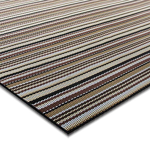 casa pura® Indoor- und Outdoor-Bodenbelag Asti   kunstvoll gewebt   als Teppich oder Läufer   40 Größen (180x200cm)