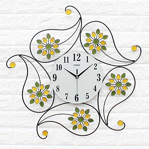 immer Moderne einfache europäische Stil kreative Mode Persönlichkeit Uhr Zimmer Ruhige Quarzuhr (Farbe : Color Diamond Section) ()