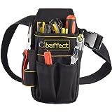 Baffect - Bolsa de herramientas de lona con cinturón de nailon ajustable, resistente y profesional, para electricistas, técni