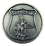 Archangel Saint St Michael Medal Patron of Police Badge Shape Design Pocket Token