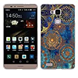 Fubaoda Ascend Mate 7 Hülle Case, [Mandala-Kreis] Huawei Ascend Mate 7 Case silikon Hülle Premium Durchsichtig Handyhülle Backcover Durchsichtig hülle Case Schutzhüllen TPU Case für Ascend Mate 7
