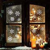 heekpek 56 Glitter Copo De Nieve La Ventana Se Aferra Decoración De Navidad Pegatinas De Puerta De Pared Pegatinas De Copo De Nieve Inicio Tienda Decoración