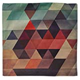 """Luxbon Geometrische Muster Kissenbezug Lendenkissen Bettkissen Pillowcase Cover Hülle Haus Sofa Zimmer Auto Dekokissen 18 x 18 """" Bunt Dreiecks Kachel - 3"""