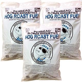 PENBEAD Premier Charcoal BBQ Briquettes: VALUE PACK OF Three 10kg bags (30kg total)
