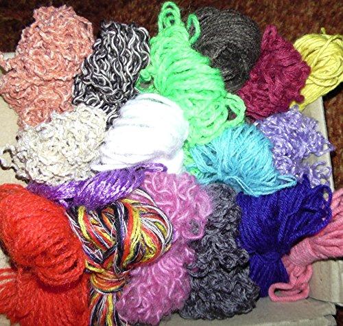 Wollreste 50g basteln häkeln weben stricken lernen, KITA Kinder Schule Handarbeit -