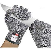 antitaglio Hppe food grade Level 5della mano di guanti per protezione di sicurezza da lavoro da cucina per tagliare, affettare Fly gioie, grigio