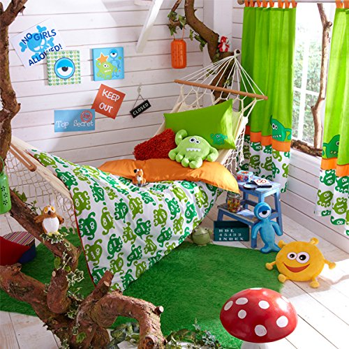 Izziwotnot Bedtime Buddie Childrens Duvet Cover & Pillow Case Set, Single