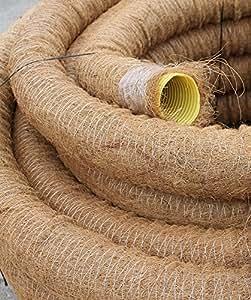 drainagerohr dn 100 gelocht mit kokosfilter kokos ummantelt drainage 5m doubleyou geovlies. Black Bedroom Furniture Sets. Home Design Ideas