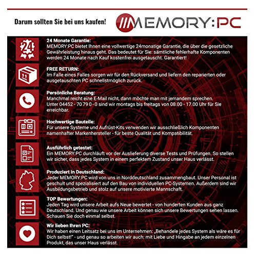 Memory PC Gaming-PC i7-8700 - 7