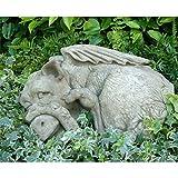 Vidroflor Gartenfigur | Drache PEEP II | H: 22 cm | 29 kg | aus massivem Steinguss