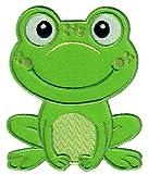 PatchMommy Patch Aufnaeher Aufbuegler Applikation zum Aufbuegeln, Frosch - Fuer Kinder Baby