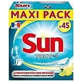 Sun Tout En 1 Tablettes Lave-Vaisselle Citron x45