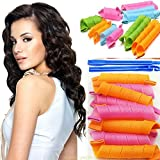 Magic Hair Curlers,Cheap4uk 18PCS Easy Use Magic Hair Curlers with Styling Hook for Long and Short Hair