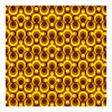Retrotapete Vliestapete - 70er Jahre Tapete Kreisdesign - Fototapete Quadrat Vlies Tapete Wandtapete Wandbild Foto 3D Fototapete, Größe HxB: 192cm x 192cm