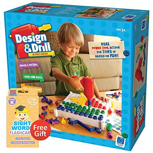 Design and Drill Activity Center with Your Choice of Educational Flashcards (Kindergarten) by Brybelly