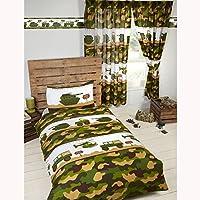 Ejército Camp Simple funda de edredón y funda de almohada Set