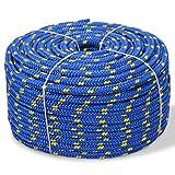Tidyard Corde de Bateau Polypropylène pour Gréement ou comme Amarre 8 mm 500 m Bleu