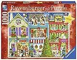 Ravensburger 19735 - Haustiere Feiern Weihnachten - 1000 Teile Puzzle