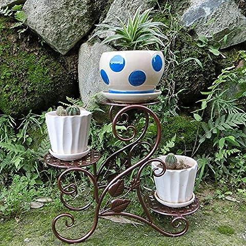 Ferro battuto ferro Creative Mini Flower stand interni succulente in bronzo di (Stand Livello Ferro Battuto Impianti)