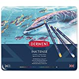 Derwent 0700929 Inktense Permanent Watercolour Pencils ,Assorted Colours ,Set of 24