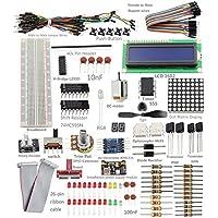 Sunfounder Project Super Starter Kit w/ 26-Pin GPIO Extension Board, GPIO Cable, H-Bridge L293D, ADXL345, DC Motor, 7-Segment, Dot Matrix Display for Raspberry Pi
