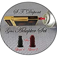 PowerPreise24 Gas refill Adapter Set for S.T. Dupont Lighters Linie 1, Linie 2 & Gatsby