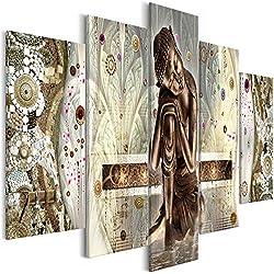 murando - Cuadro Buda Zen 200x100 cm - impresión de 5 Piezas - Material Tejido no Tejido - impresión artística - Imagen gráfica - Decoracion de Pared Tejido-no Tejido - Oriental p-A-0027-b-m
