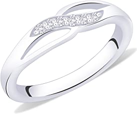 Peora Sterling Silver Infinity Twist Ring for Women