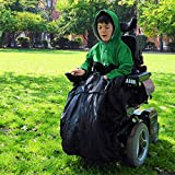 BundleBean Childs Wheelchair Rain Cover/Cosy / Special Needs Buggy Cosy - waterproof, fleece, universal fit PLAIN BLACK
