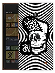 "Humor Gang Hipster Skull Art Printed Designer Mobile Back Cover For ""Nokia Lumia 730"" (3D, Matte Finish, Premium Quality, Protective Snap On Slim Hard Phone Case, Multi Color)"