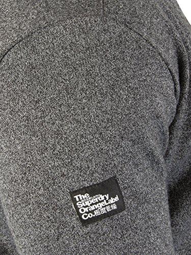 Superdry Uomo Felpa con cappuccio Urban Label Orange, Grigio Grigio