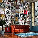 murando - PURO TAPETE - Realistische Tapete ohne Rapport und Versatz - Kein sich wiederholendes Muster - 10m Vlies Tapetenrolle - Wandtapete - modern design - Fototapete - Banksy f-A-0237-j-b