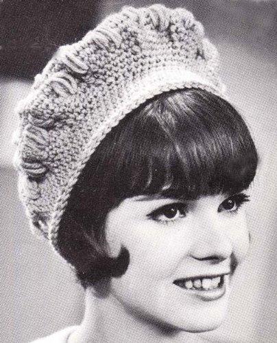 Crochet Puff Beret Vintage Hat Cap Beanie Pattern (English Edition) -