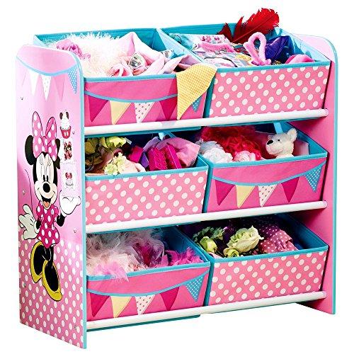 Und Mickey Minnie-möbel (Aufbewahrungsregal - Spielzeugkiste - Spielzeugtruhe - Disney Regal 6 Boxen mit Motivauswahl (Minnie Mouse))