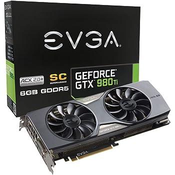 EVGA GeForce GTX 980 Ti 6GB SC GAMING ACX 2.0 Whisper Silent Cooling Graphics Card 06G-P4-4993-KR