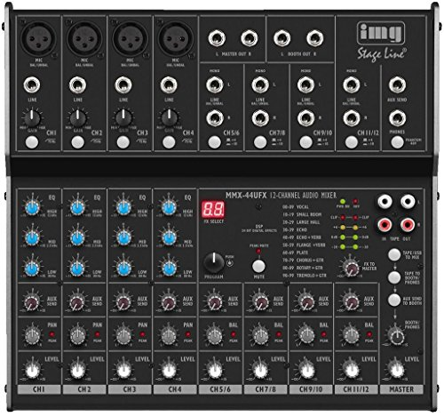 img Stage Line MMX-44UFX, MIXER AUDIO A 8 CANALI CON EFFETTI