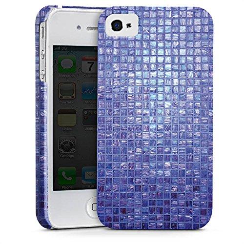 Apple iPhone X Silikon Hülle Case Schutzhülle Mosaik Steine Muster Premium Case glänzend