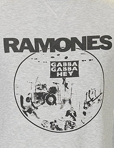 Worn By Men's Ramones Men's Grey Sweatshirt 100% Cotton Grey